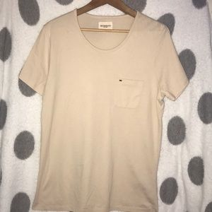 Obey Crew Neck Pocket Tee - s/s - Men's M - Cream